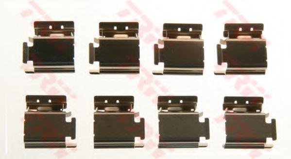 Комплектующие, колодки дискового тормоза TRW арт. PFK413