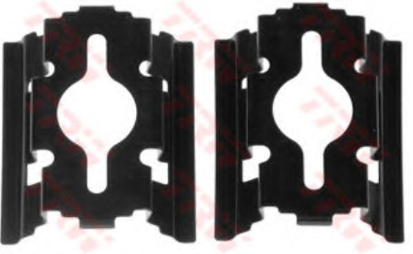 Комплектующие, колодки дискового тормоза TRW арт. PFK502