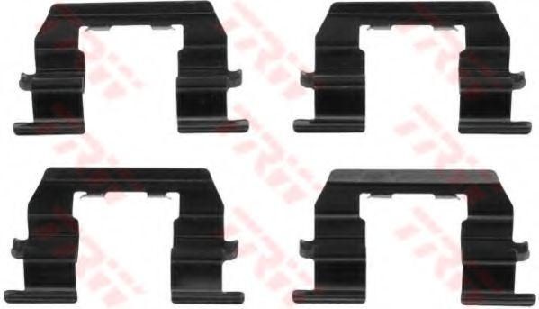 Комплектующие, колодки дискового тормоза TRW арт. PFK524
