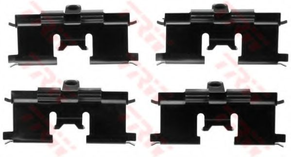 Комплектующие, колодки дискового тормоза TRW арт. PFK542