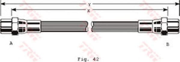 Тормозной шланг TRW арт. PHA106
