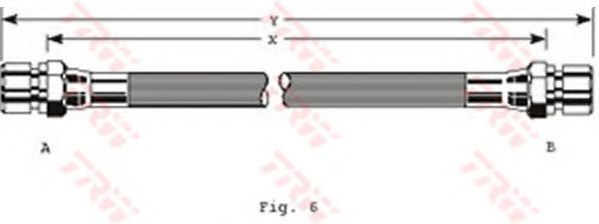 Тормозной шланг TRW арт. PHA229
