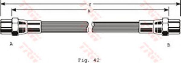 Тормозной шланг TRW арт. PHA289