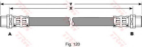 Тормозной шланг TRW арт. PHA344