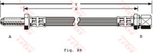 Тормозной шланг TRW арт. PHB108