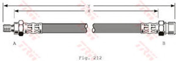 Тормозной шланг TRW арт. PHB124
