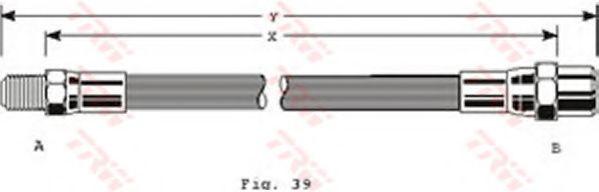 Тормозной шланг TRW арт. PHB128