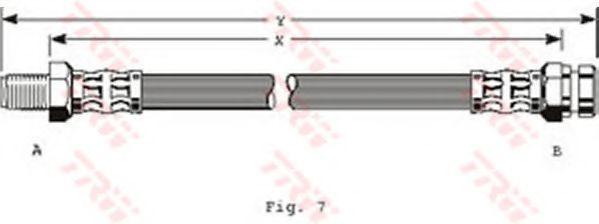 Тормозной шланг TRW арт. PHB134