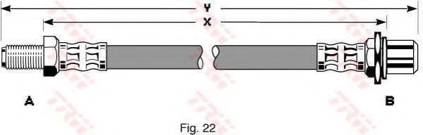 Тормозной шланг TRW арт. PHB144