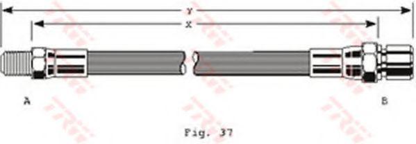 Тормозной шланг TRW арт. PHB152
