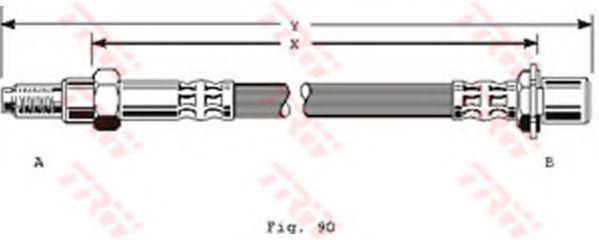 Тормозной шланг TRW арт. PHB161