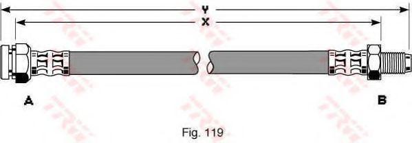 Тормозной шланг TRW арт. PHB182