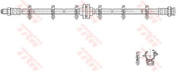 Тормозной шланг TRW арт. PHB223