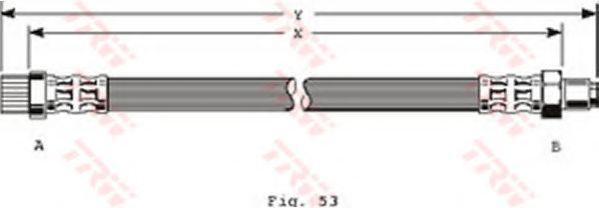 Тормозной шланг TRW арт. PHB372
