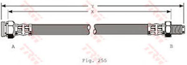 Тормозной шланг TRW арт. PHB376