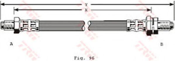 Тормозной шланг TRW арт. PHC204