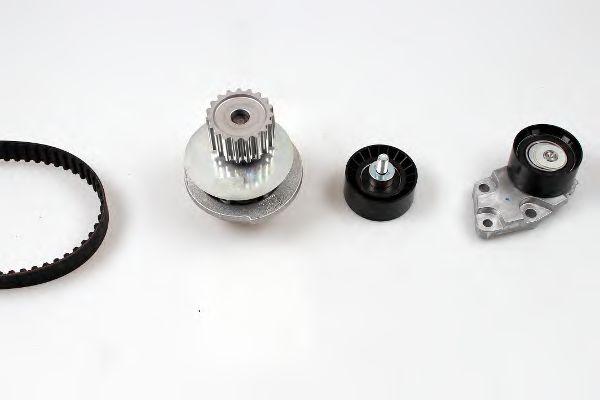 Водяной насос + комплект зубчатого ремня HEPU арт.