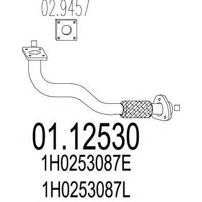 Труба выхлопного газа MTS арт. 0112530