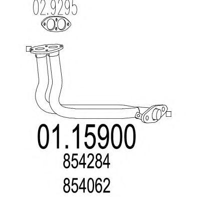 Труба выхлопного газа MTS арт. 0115900