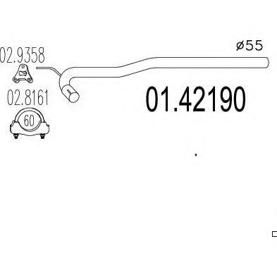 Труба выхлопного газа MTS арт. 0142190