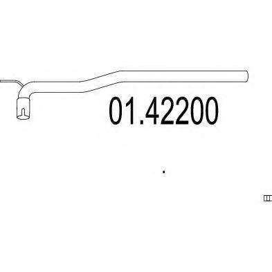 Труба выхлопного газа MTS арт. 0142200