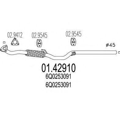 Труба выхлопного газа MTS арт. 0142910