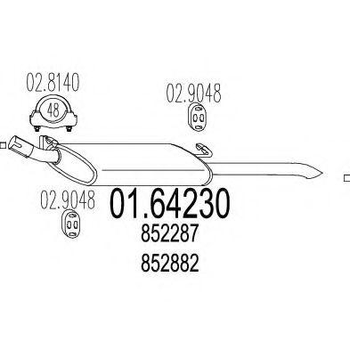 Глушитель выхлопных газов конечный MTS арт. 0164230
