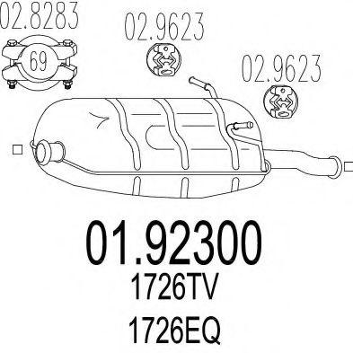 Глушитель выхлопных газов конечный MTS арт. 0192300