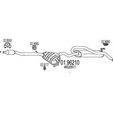 Глушитель выхлопных газов конечный MTS арт. 0196210
