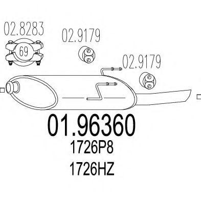 Глушитель выхлопных газов конечный MTS арт. 0196360