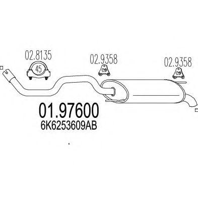 Глушитель выхлопных газов конечный MTS арт. 0197600