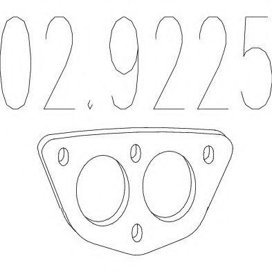 Прокладка, труба выхлопного газа MTS арт. 029225