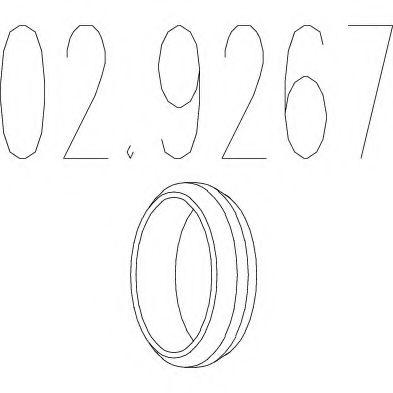 Уплотнительное кольцо, труба выхлопного газа MTS арт. 029267