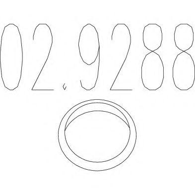 Уплотнительное кольцо, труба выхлопного газа MTS арт. 029288