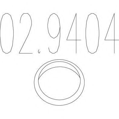 Уплотнительное кольцо, труба выхлопного газа MTS арт. 029404