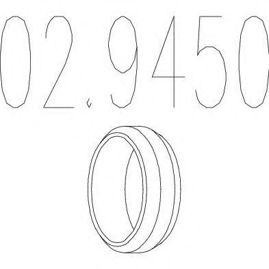 Уплотнительное кольцо, труба выхлопного газа MTS арт. 029450
