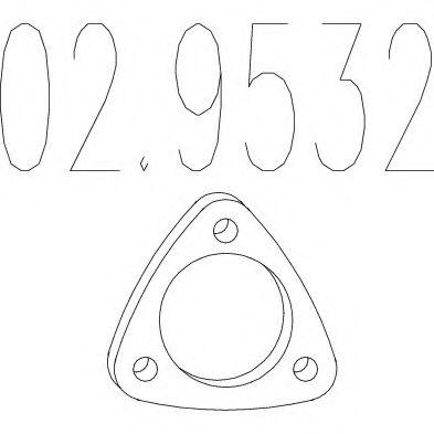 Прокладка, труба выхлопного газа MTS арт. 029532