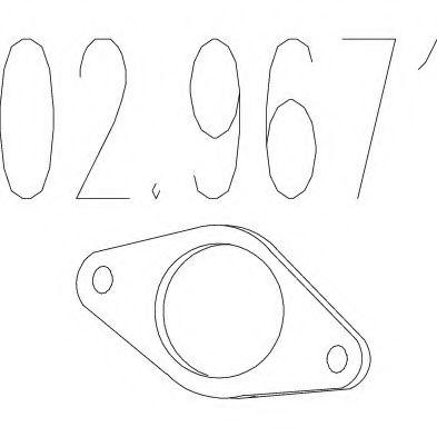 Прокладка, труба выхлопного газа MTS арт. 029671