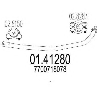 Труба выхлопного газа MTS арт. 0141280