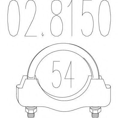 Соединительные элементы, система выпуска MTS арт. 028150