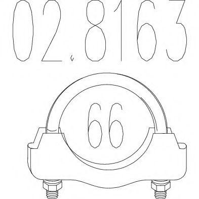 Соединительные элементы, система выпуска MTS арт. 028163