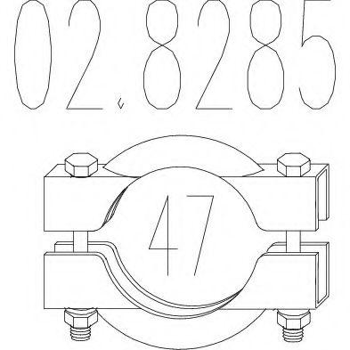 Соединительные элементы, система выпуска MTS арт. 028285