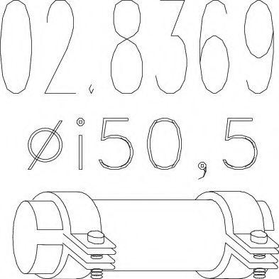 Соединительные элементы, система выпуска MTS арт. 028369