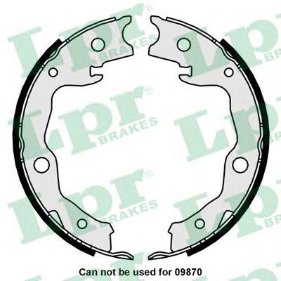 Комплект тормозных колодок, стояночная тормозная система LPR арт. 01034