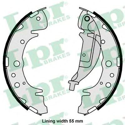 Комплект тормозных колодок LPR арт. 01061