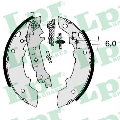 Колодки гальмівні барабанні LPR 04470