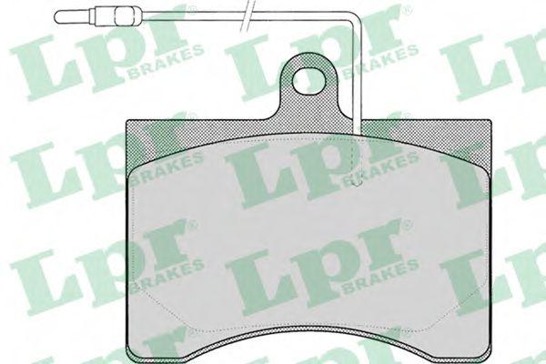 Колодки гальмівні дискові LPR 05P008