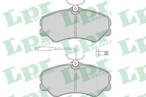 Комплект тормозных колодок, дисковый тормоз LPR арт. 05P011