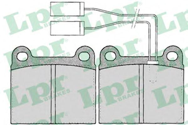 Комплект тормозных колодок, дисковый тормоз LPR арт. 05P023