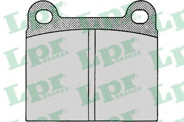 Комплект тормозных колодок, дисковый тормоз LPR арт. 05P024